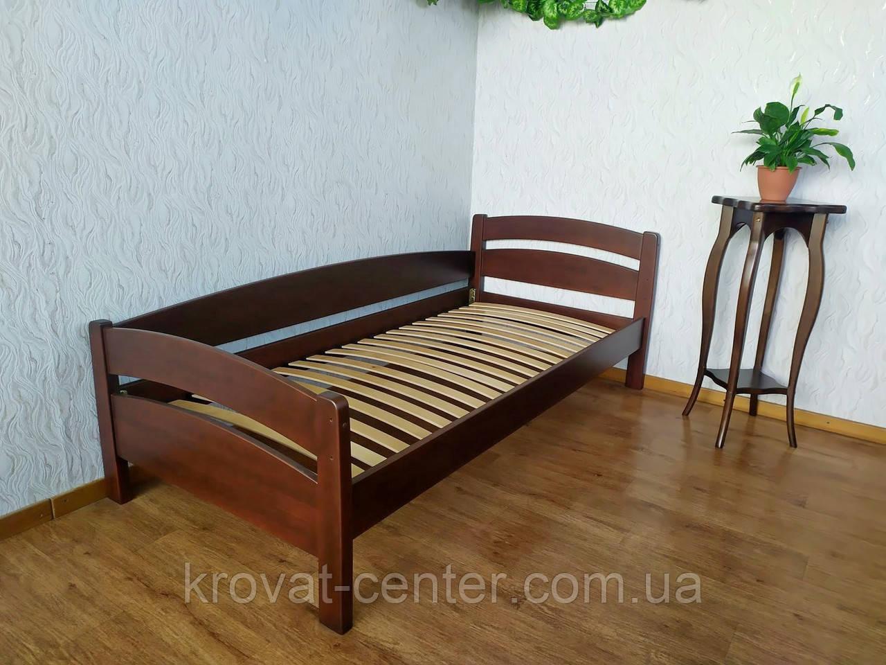 """Односпальне ліжко з натурального дерева від виробника """"Березня"""""""