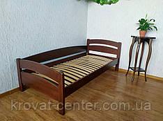 """Кутова односпальне ліжко з натурального дерева від виробника """"Березня"""""""