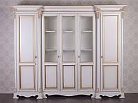 """Классический шкаф в гостиную """"Фридрих"""", из натурального дерева. Шкаф в классическом стиле под заказ"""