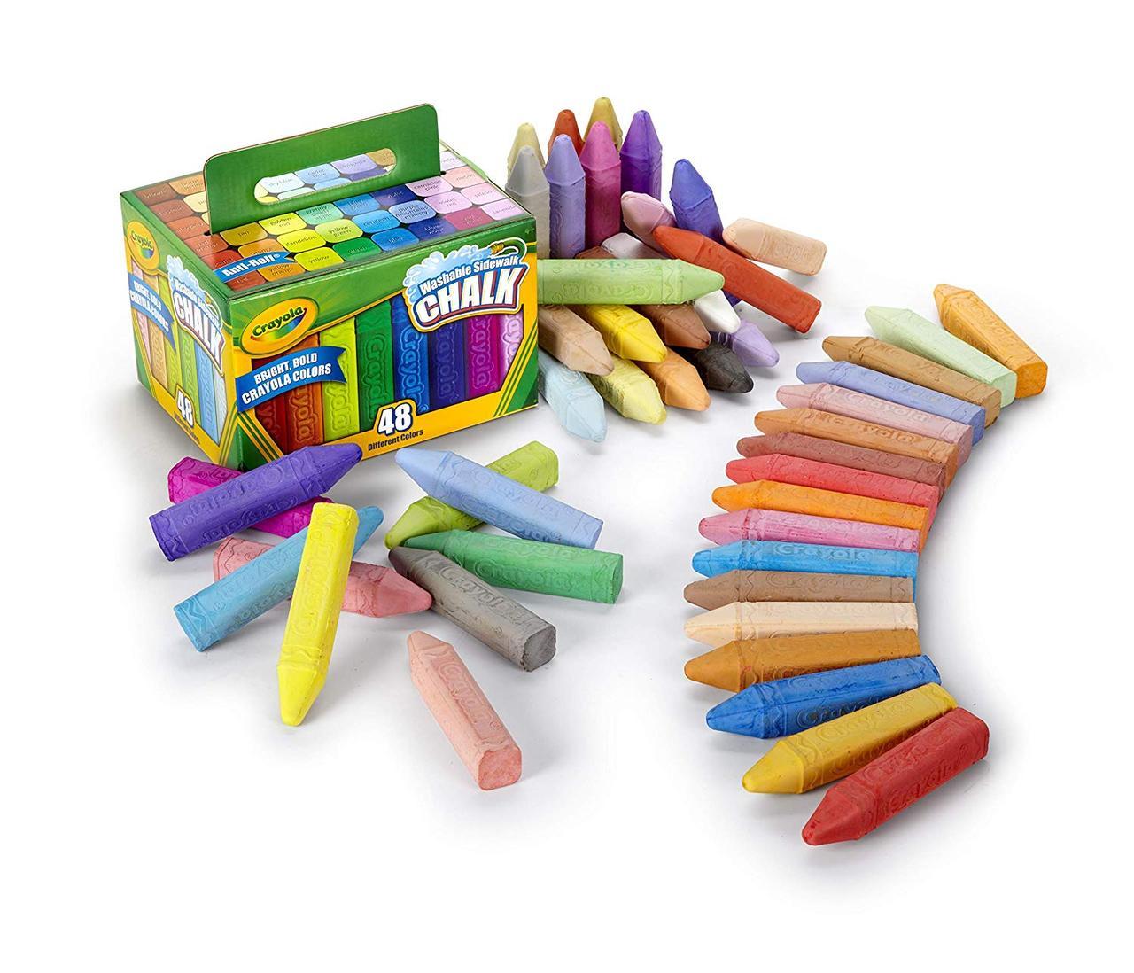 Crayola Крейда для малювання на асвальті,мольберті, дошці, фліпчарті. Washable Sidewalk Chalk, 48 штук, цена 585 грн., купить Самбір — Prom.ua (ID#1018533365)
