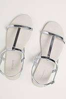 Женские сандалии босоножки H&M Devided, серебро, черный, в наличии, фото 1