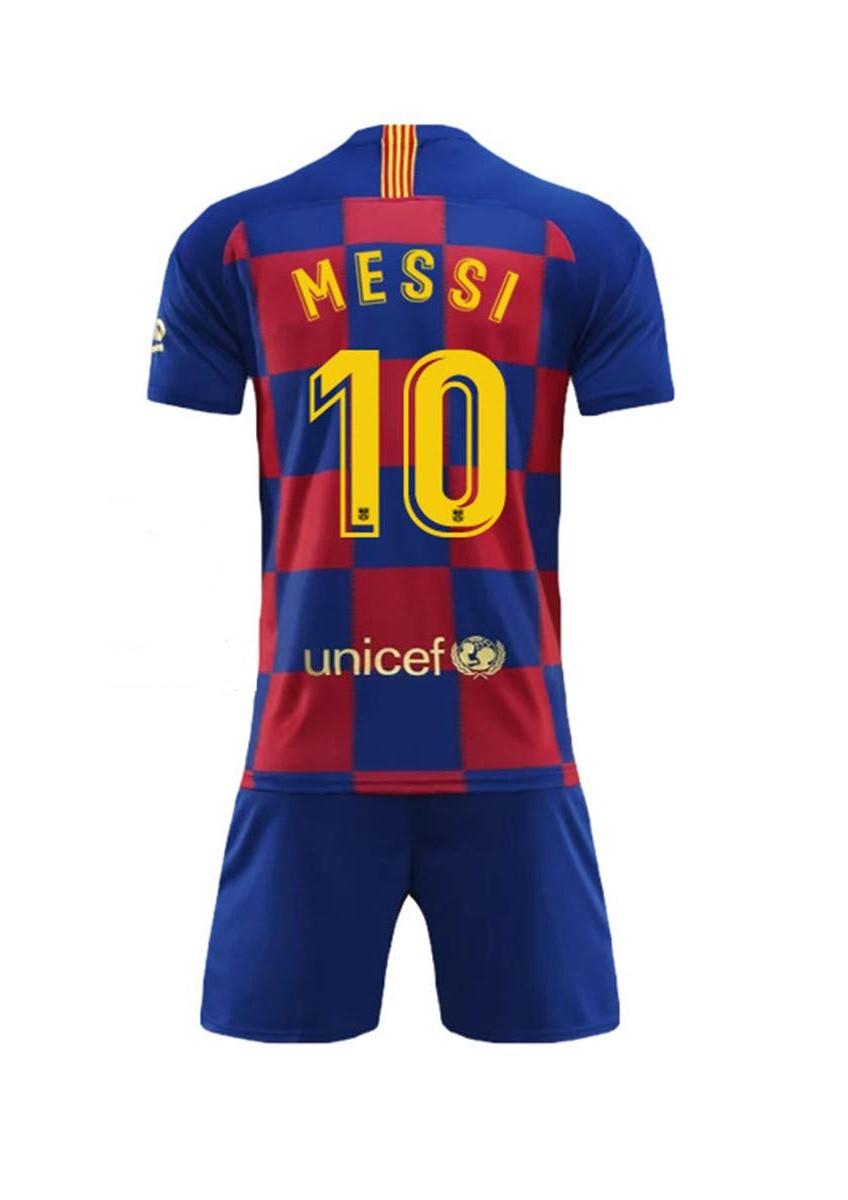 Детская футбольная форма Барселона MESSI 10 сезон 2019-2020 основная гранатовая