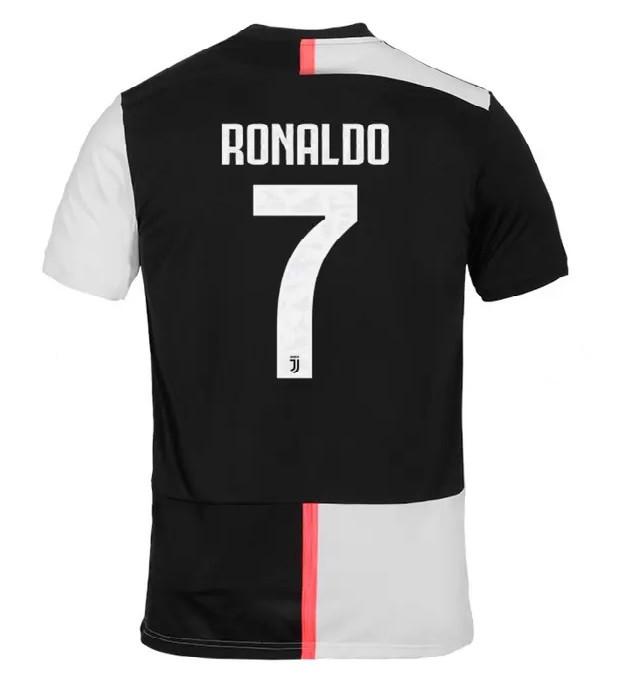 Детская футбольная форма Ювентус RONALDO 7 2019-2020 основная черно-белая