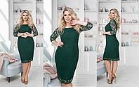 Гіпюрову плаття жіноче - Зелений, фото 1