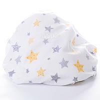 Пелёнка фланелевая с жёлтыми и серыми  звездочками.