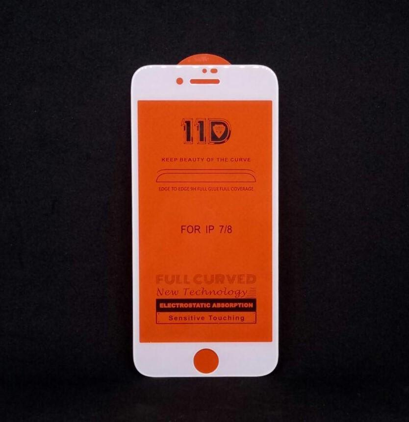 Защитное стекло 11D iPhone 7/8 (Белое)