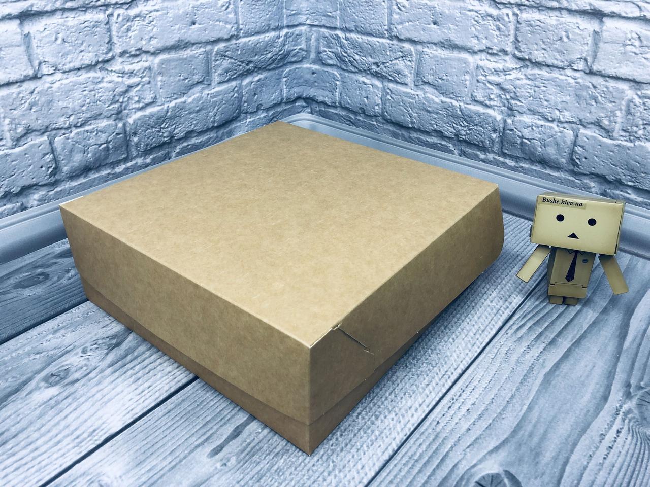 *10 шт* / Коробка для 9-ти кексов / 250х250х90 мм / Крафт / б.о.