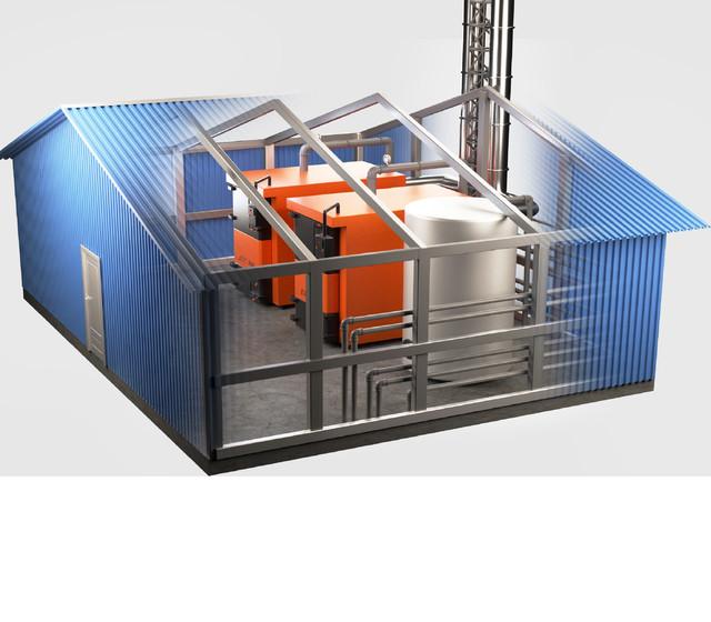Опалювальні модулі на базі піролізних котлів БТС