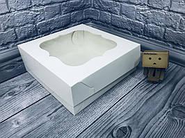 *10 шт* / Коробка / 250х250х90 мм / Белая / окно-обычн / для торт