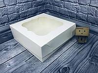 Коробка / 250х250х90 мм / Молочн / окно-обычн / для торт, фото 1