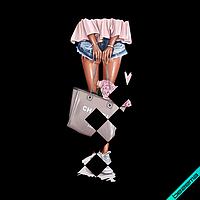 Печать на носки термо Girl [Свой размер и материалы в ассортименте]