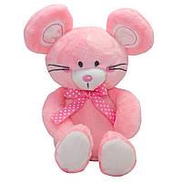 Мягкая игрушка ПРЕКРАСНЫЙ МЫШОНОК, 20 см, розовая.