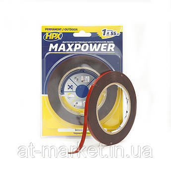 Двусторонняя лента HPX MAXPOWER OUTDOOR для экстремальных нагрузок и наружных работ 6мм х 5м