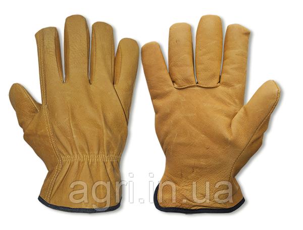 Перчатки защитные CORK из козьей шкуры, блистер, размер 10,5