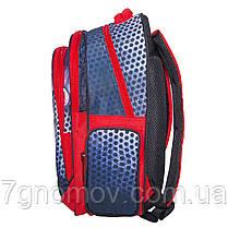 Рюкзак школьный для мальчиков с пеналом и ланчбоксом красный VGR Машина, фото 3