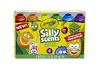 Crayola Silly Scents Набір ароматизованих змиваючих фарб, гуаш Washable Kids Paint, Scented Paint, 6 Count