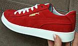 Puma classic! Мужские кроссовки кеды  натуральная белая кожа в стиле Пума классик!, фото 5