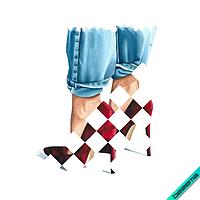 Дизайн на трехнитку Туфли [Свой размер и материалы в ассортименте]