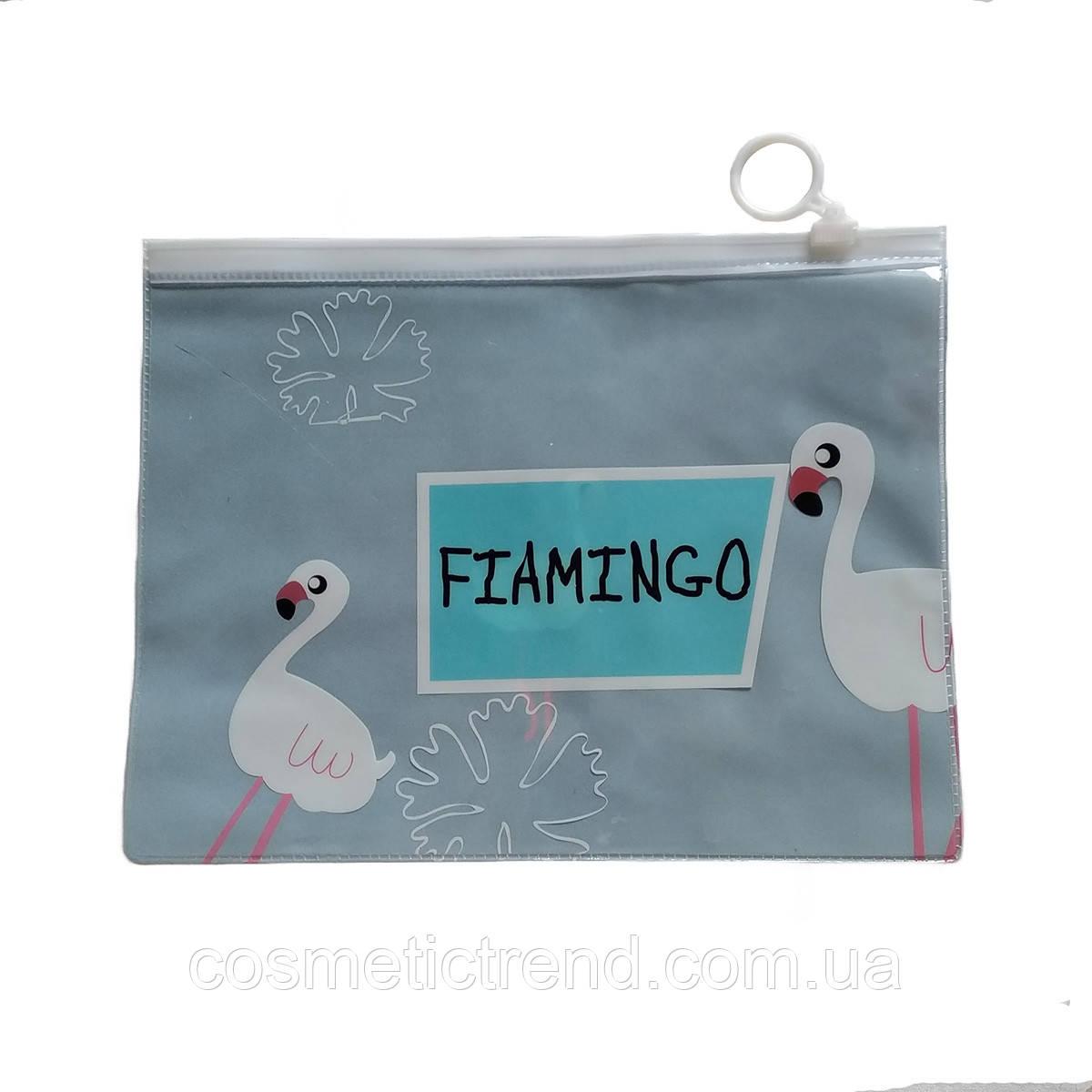 Сумочка жіноча прозора силіконова c малюнком Flamingo 20,4*15,8 см (розмір М)