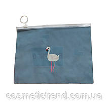 Сумочка жіноча прозора силіконова c малюнком Flamingo 20,4*15,8 см (розмір М), фото 2