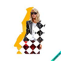 Наклейки на текстильные изделия Fashion girl [Свой размер и материалы в ассортименте]