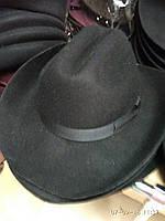 Мужская  шляпа  из фетра с большими полями