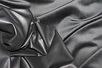 Ткань эко кожа стрейч с начесом черный №317, фото 1