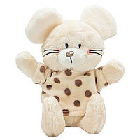 Мягкая игрушка - мышка в кофточке,15 см, белый, мех искусственный (C1812315C-1)