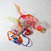 Цветные пряди на заколке с бантиком