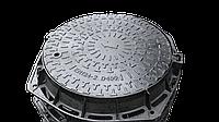 Люк стандарт чугунный канализационный, тяжелый, магистральный, класс D-400. 40 тонн