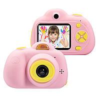 Детский фотоаппарат с селфи,видео функциями,Kids Camera c дисплеем,Розовая