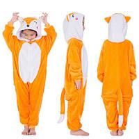 Пижама Кигуруми Лиса на молнии микрофибра (велсофт) детская
