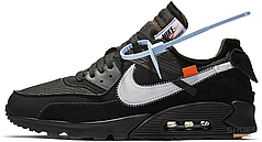 Мужские кроссовки Nike Air Max 90 OFF-WHITE Black AA7293-001, Найк Аир Макс 90