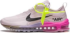 "Женские кроссовки Nike Air Max 97 Off-White Elemental Rose Serena ""Queen"" AJ4585-600, Найк Аир Макс 97"