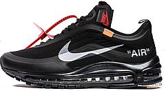 Женские кроссовки Nike Air Max 97 Off-White Black AJ4585-001, Найк Аир Макс 97