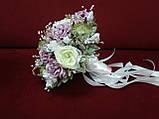 Весільний букет-дублер ліловий з молочним і пудровим, фото 2