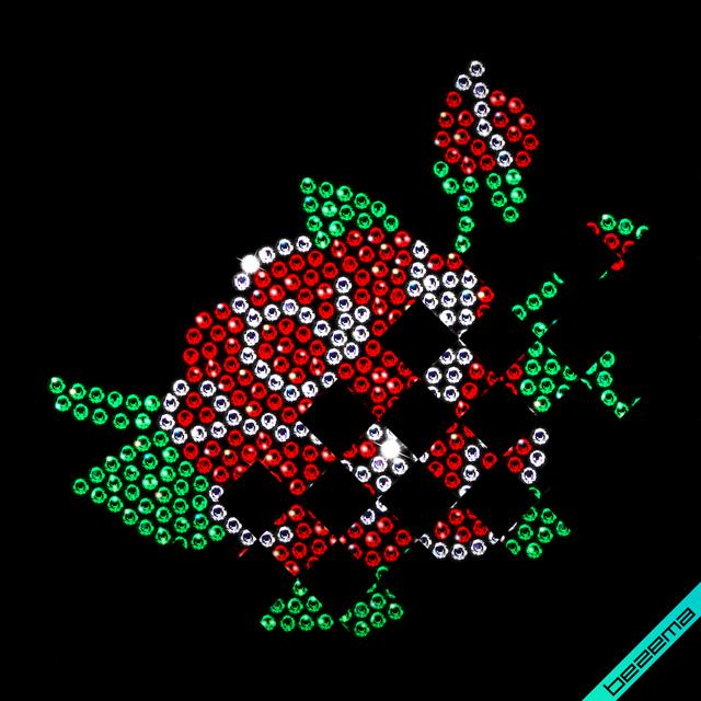 Термотрансфери на пеньюар Роза (Скло, 2мм-червоний, 2мм-кристал, 2мм-зелений)