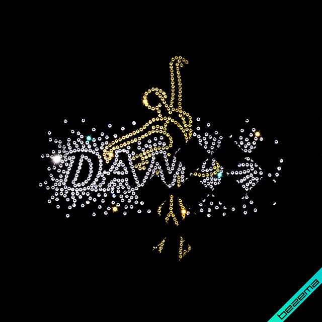 Стразы, аналог пайетки на сапоги термо Dance (Стекло, 2мм-кристалл, 2мм-золото)