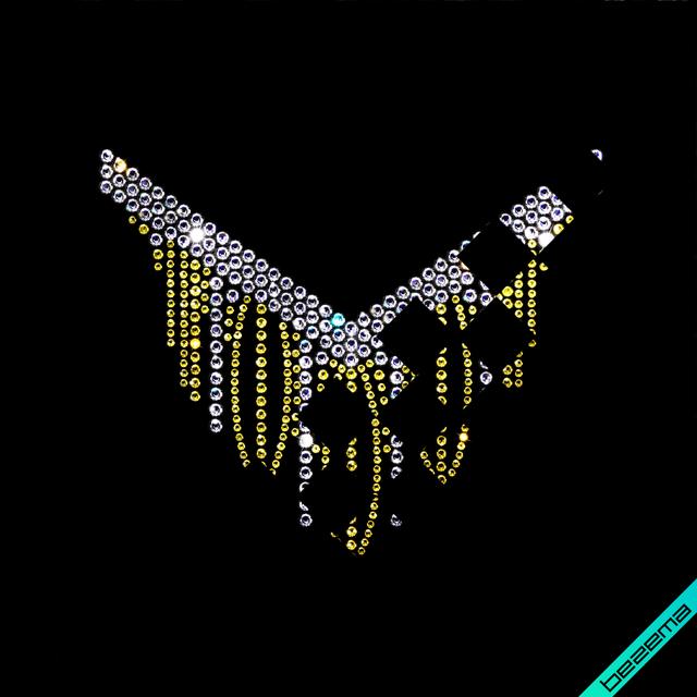 Картинки из страз на сатин Колье (Стекло, 2.8мм-золото, 4мм-золото, 4.8мм-кристалл)
