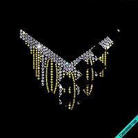 Картинки из страз на сатин Колье ss10-золото,ss16-золото,ss20-кристалл,