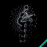 Аппликации на сапоги Девочка гимнастка (Стекло, 2мм-бензин)