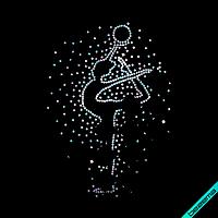 Аппликации на сапоги Девочка гимнастка ss6-бензин,