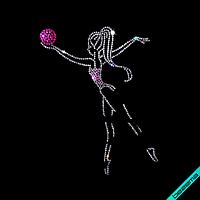 Стрази, аналог паєтки на рукавиці і рукавички Дівчинка ss6-кристал,ss10-рожевий,