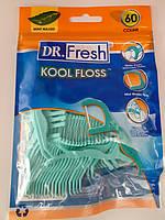 Детские флоссы с держателями Зубная нить Dr.Fresh Мятная 60 шт. Набор