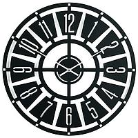 Металлические настенные часы Chicago (черный)