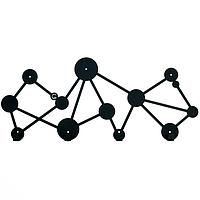 Металлическая настенная вешалка Dots (черная)