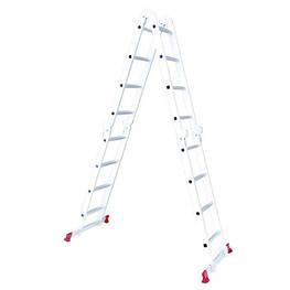 Лестница алюминиевая мультифункциональная трансформер 4*4ступ. 4.62м