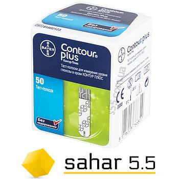 Тест-полоски для глюкометра Contour Plus 50 -  Контур Плюс тест полоски  50 шт
