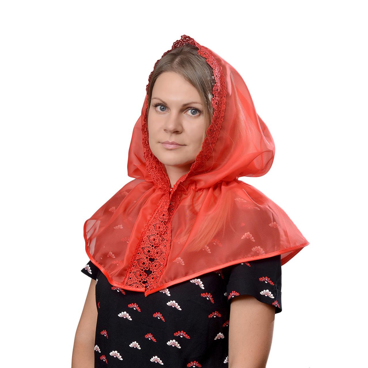 Платок Церковный Красный