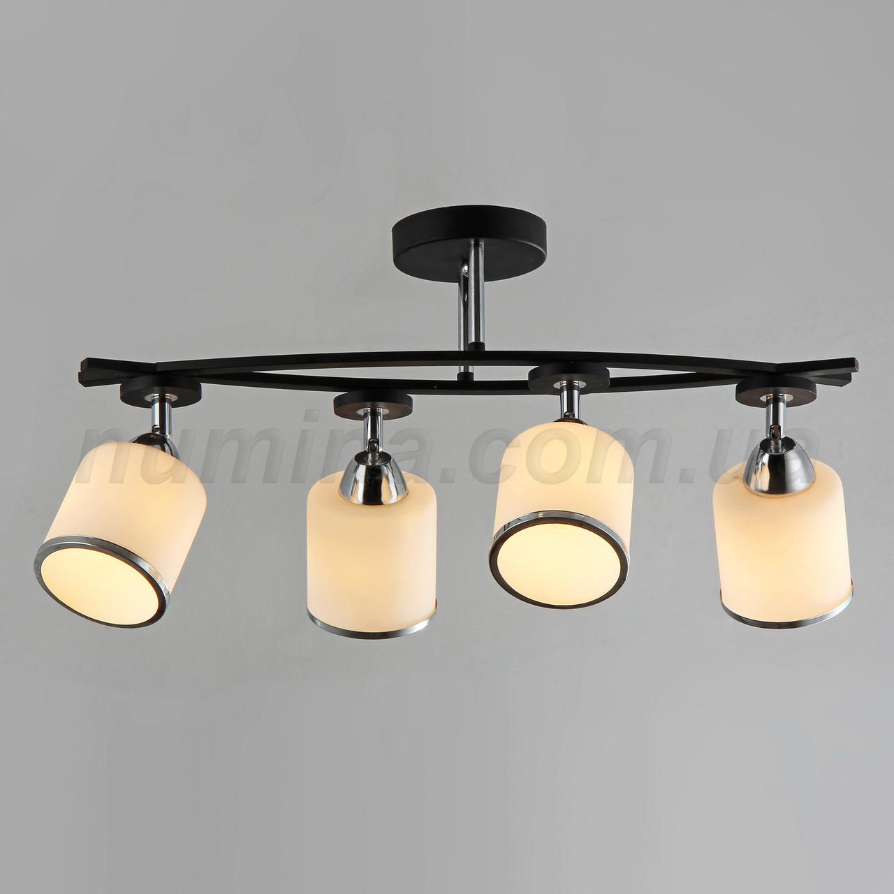 Люстра потолочная на 4 лампы 3-A2445/4 BK+CH